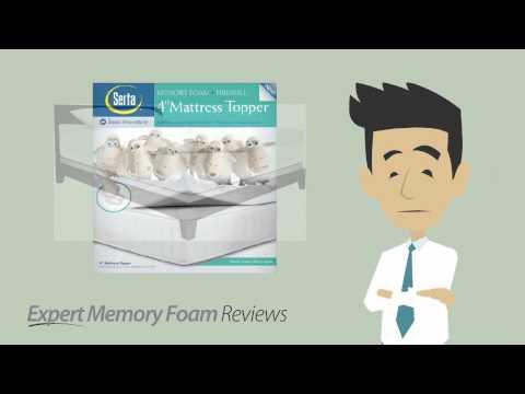 Serta 4 inch dual layer memory foam mattress topper | A video review from Expert Memory Foam Reviews
