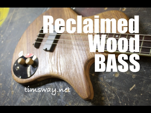 Short-Scale Bass Guitar made from Reclaimed Wood