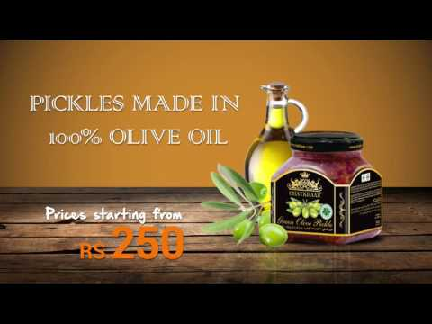 Pickles made in 100% Pure Olive Oil