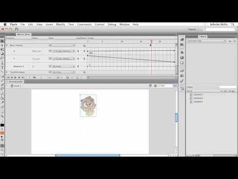 Adobe Flash CS6 Tutorial | Using the Motion Editor