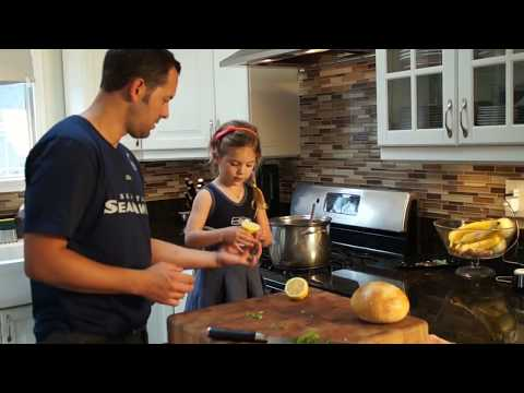How to make the Best Homemade SALMON CHOWDER made with a Kid