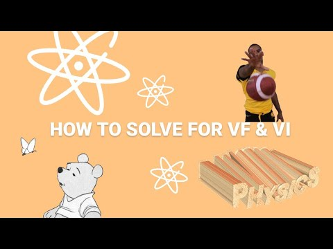 How to find Vi and Vf