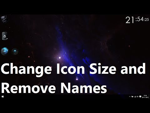 How to Remove Icon Names and make Icons Bigger in Windows (10)