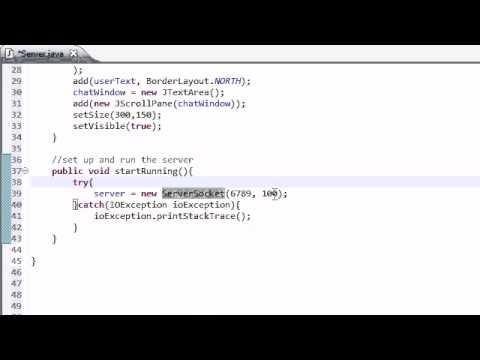 Intermediate Java Tutorial - 40 - Setting Up the Server
