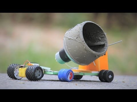 How to make a cement mixer at home
