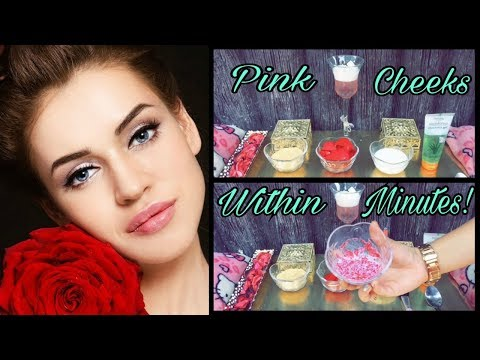 How to get rosypink cheeks within minutes at home!!