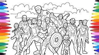 Avengers Endgame Coloring Pages Videos 9tube Tv
