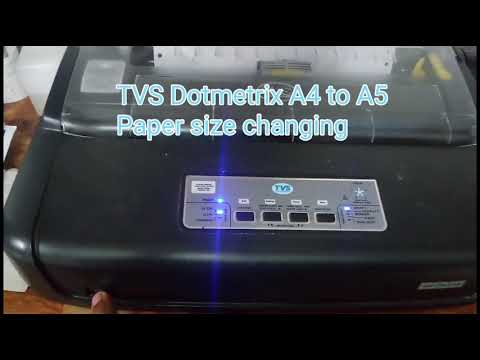 Tvs Dotmetrix setting