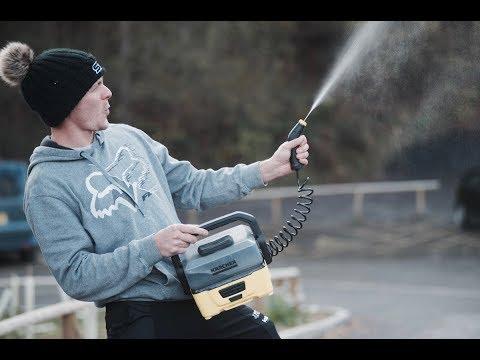 Karcher OC3 portable pressure washer first ride