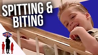 Out Of Control Kids Kick & Bite Parents | Supernanny