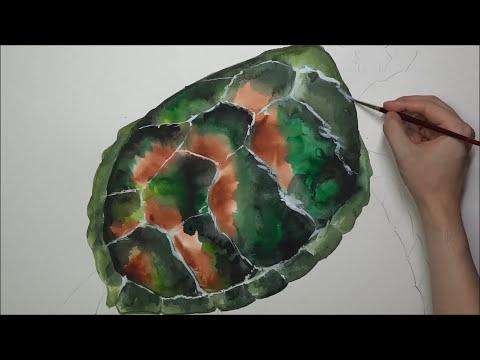 [Watercolor] Galaxy X Green Turtle - Longer Version