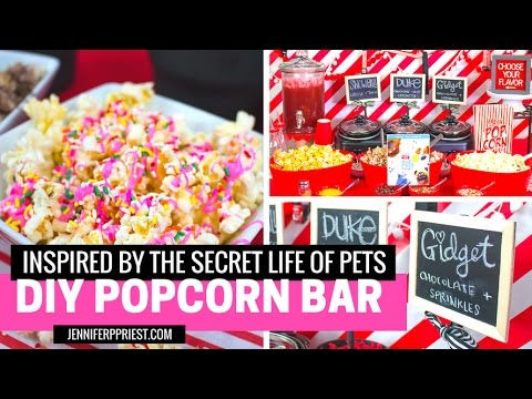 DIY Movie Night Popcorn Bar inspired by The Secret Life of Pets