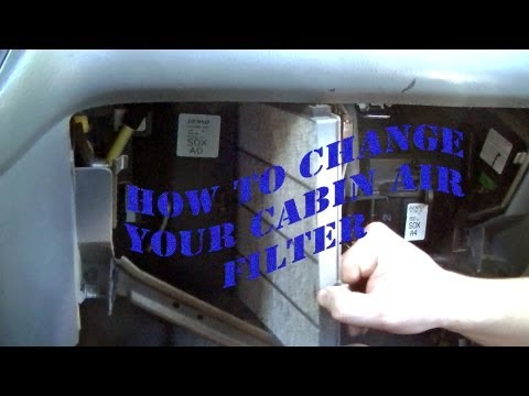 How to change the cabin air filter of a 2004 Honda Odyssey