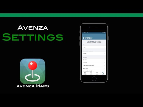Avenza Maps Settings Revised