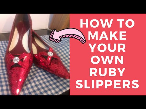 How to make Dorothy's Ruby Slippers Tutorial