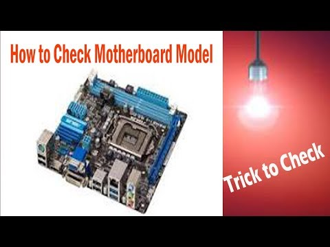 How to find your Motherboard Model Number