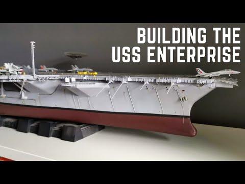 1/350 USS Enterprise CVN-65 Aircraft Carrier Model Kit