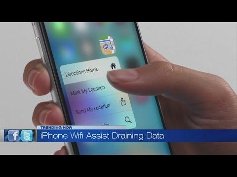 iPhone wifi assist draining data?