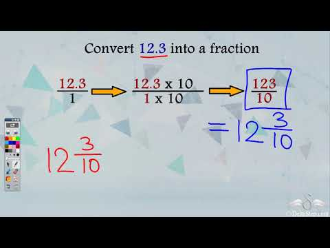 Conversion of decimals to fractions