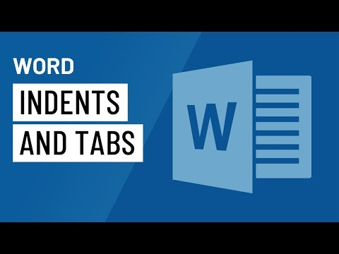 Word 2016: Indents and Tabs