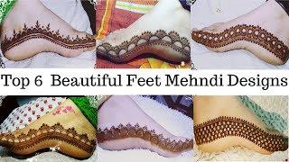 Beautiful Feet Mehndi Design | Top 6 Beautiful Feet Mehndi Design For Diwali