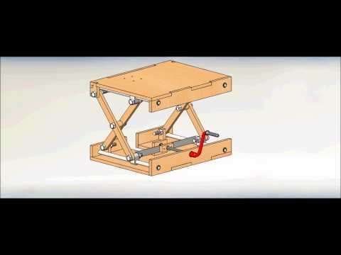 Wood Scissor Lifting Table
