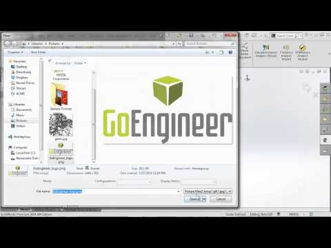 SOLIDWORKS - Inserting Logos into Parts and Drawings