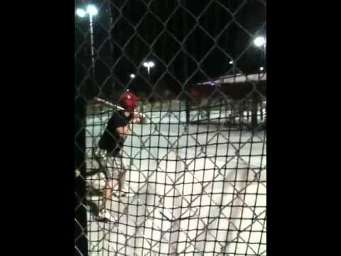 Bobby in the batting cage