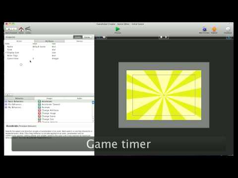 How to make timers in Gamesalad