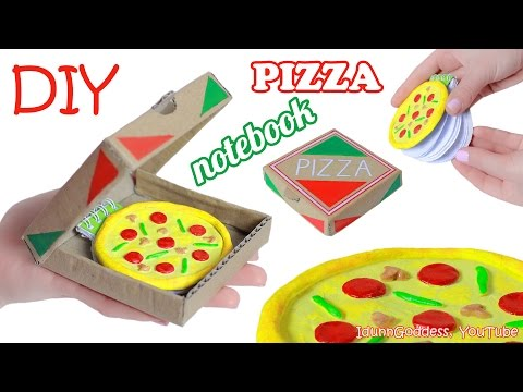 How To Make Pizza Notebook – DIY Miniature Pizza Notepad in a Pizza Box