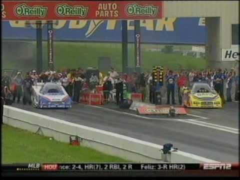 Robert Hight Ron Capps Top Fuel Funny Car O'Reilly Summer Nationals Topeka Kansas 2010.mpg