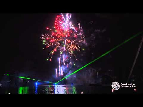 Drayton Manor Park Fireworks, Lasers & Music Spectacular 2014