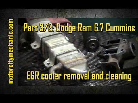 Part 3/3: Dodge Ram Cummins 6.7 diesel EGR cooler removal and cleaning