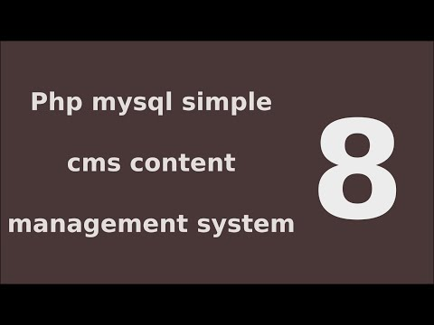 php mysql simple cms content management system tutorial - 8 Create Add page Functionality A