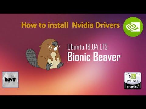 How to install Nvidia Drivers on Ubuntu 18.04