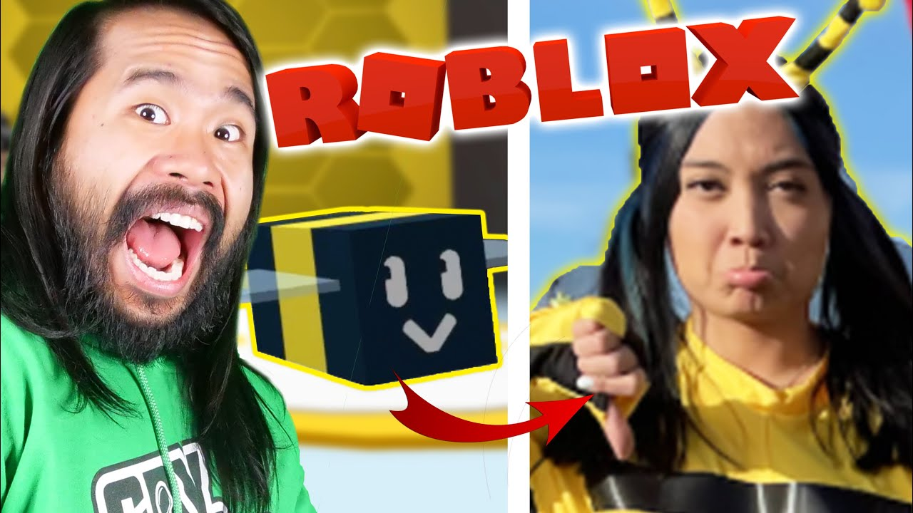 MY FIRST GAMING VIDEO! Roblox Bee Swarm Simulator But Loser Must Dance Like a Bee with Honey Shoes