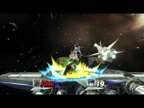 Smash Replay: Ganondorf Amiibo destroys Marth Amiibo