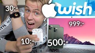 Testar billiga Apple-kopior från Wish