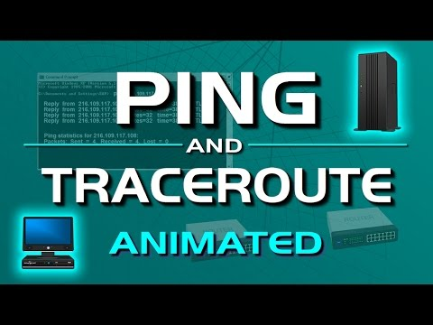 PING and TRACERT (traceroute) networking commands