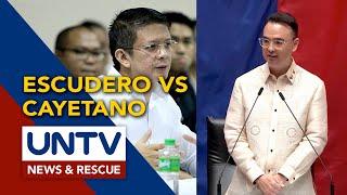 Gov. Chiz Escudero, hindi sang-ayon kay Cayetano sa provisional franchise ng ABS-CBN