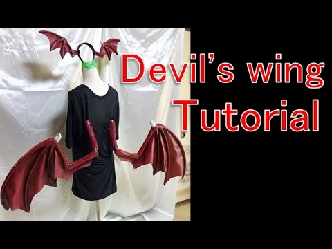 How to make devil's wing - darkstalkers lilith - You can use this for morrigan