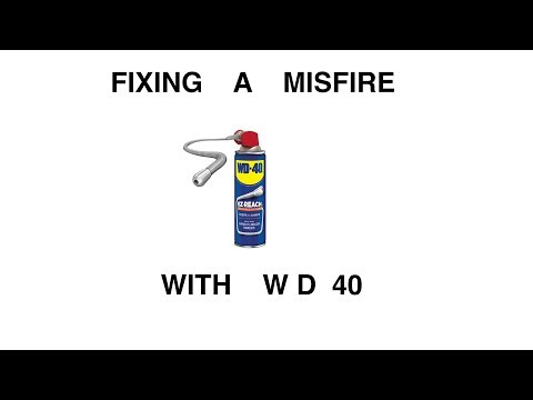 Fixing a misfire with WD 40 EZ REACH