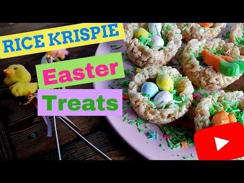 Easter Basket Rice Krispie Treats - Rice Crispy Treat Nests - Cute Easter Basket Desserts