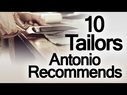 10 Custom Tailors Antonio Recommends | Best Bespoke Tailor & Made To Measure Clothiers