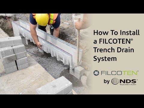 Filcoten Trench Drain Installation