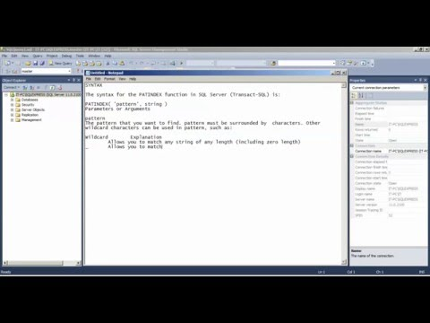 SQL PATINDEX Function - how to use PATINDEX Function
