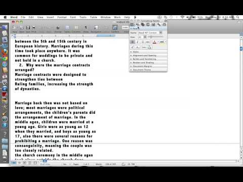 How to Adjust the Margins on Word 2008 for Mac