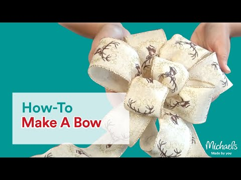 How to Make a Bow | DIY Holiday | Michaels