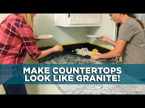 Painting Kitchen Countertops to Look Like Granite