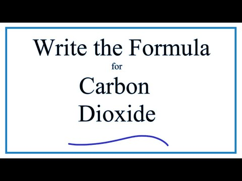 Writing the Formula for Carbon Dioxide